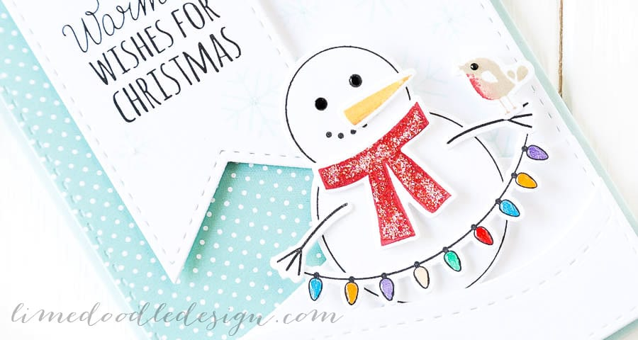Debby Hughes - Lime Doodle Design - Simon Says Stamp cold hands, warm heart - christmas, card, snowman, robin