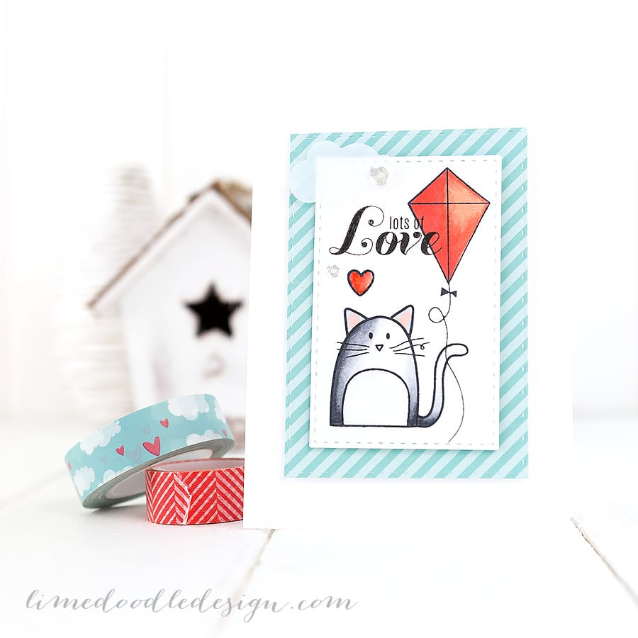 Lots of love. For more please visit http://limedoodledesign.com/2014/12/lots-love-2/ Debby Hughes - Lime Doodle Design #cute #valentine #card #cat