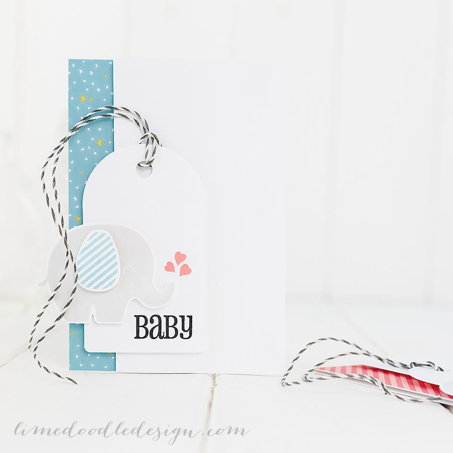 Simply stamped baby cards. For more please visit http://limedoodledesign.com/2015/01/baby/ Debby Hughes - Lime Doodle Design #baby #card #elephant