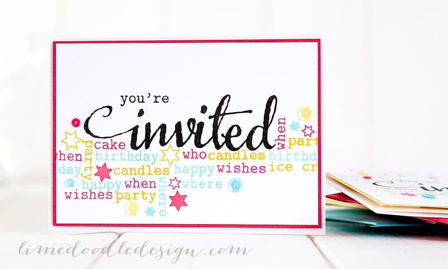 Party invites. For more please visit http://limedoodledesign.com/2015/01/party-invites/ Debby Hughes - Lime Doodle Design #birthday #party #invites