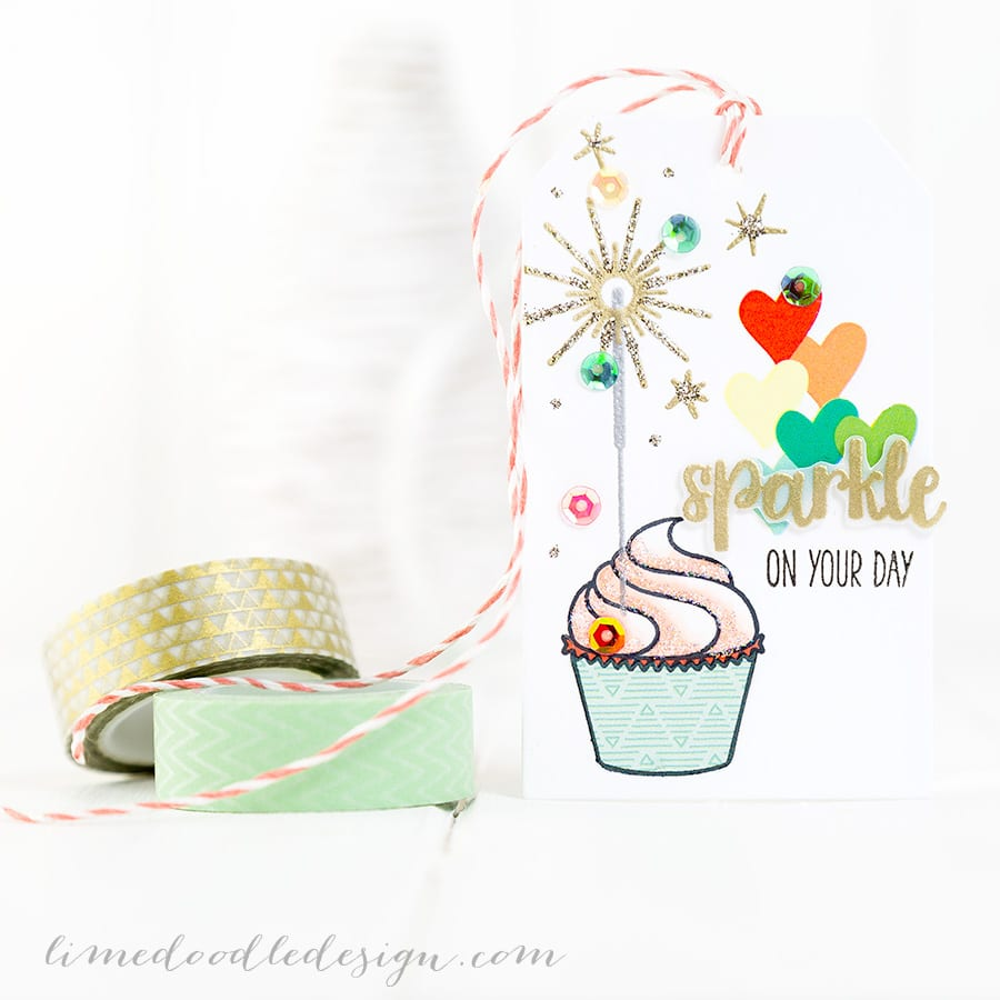 Birthday Card and tag. For more please visit http://limedoodledesign.com/2015/01/birthday-wishes-3/ Debby Hughes - Lime Doodle Design #birthday #card #tag