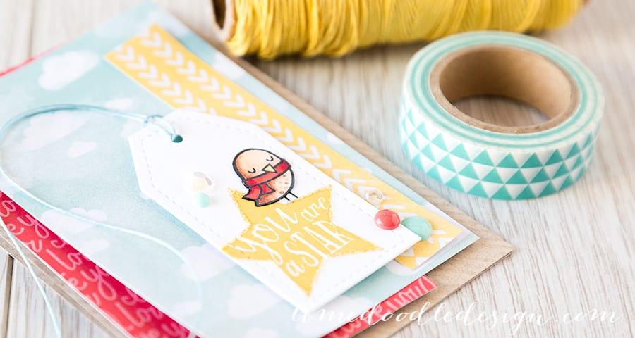 http://limedoodledesign.com/2015/02/you-are-a-star/ Debby Hughes - Lime Doodle Design #card #star #bird #tag