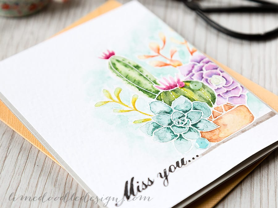 Debby Hughes - Lime Doodle Design http://limedoodledesign.com/2015/02/video-watercoloured-succulents/