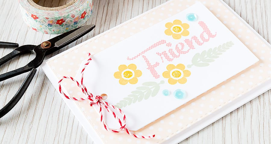 Debby Hughes - Lime Doodle Design http://limedoodledesign.com/2015/04/friend-5/ #card #friend #tag