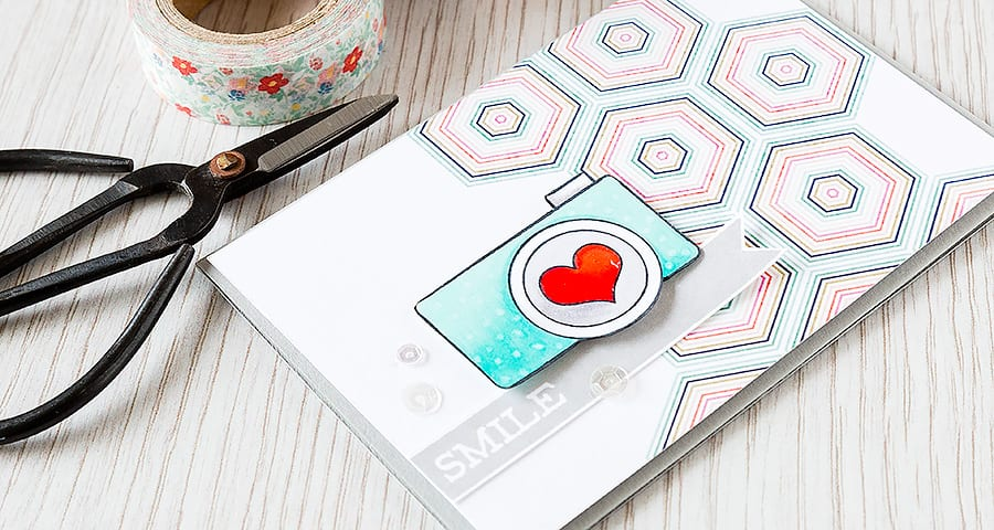 Debby Hughes - Lime Doodle Design http://limedoodledesign.com/2015/04/smile-2/ #card #camera