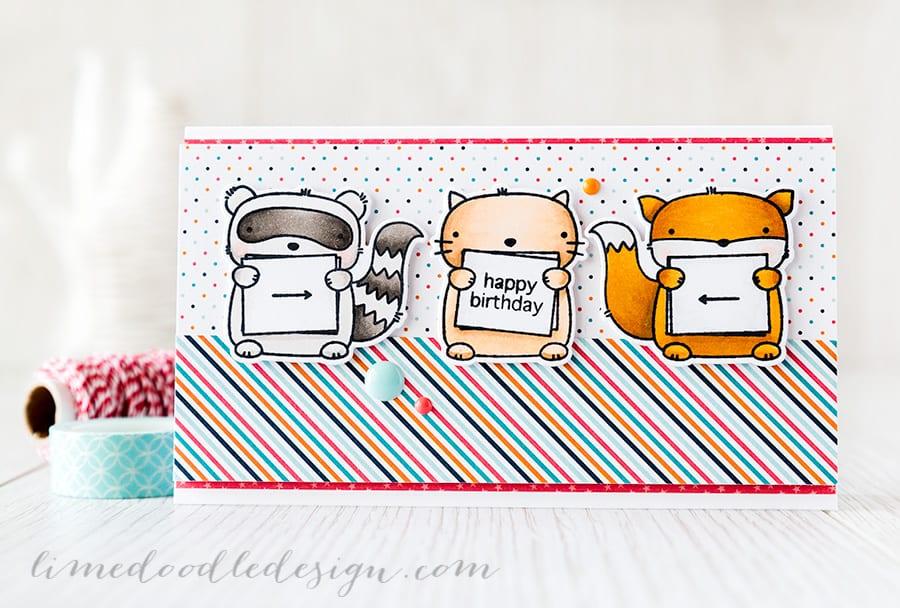 Debby Hughes - Lime Doodle Design http://limedoodledesign.com/2015/04/three-amigos/ #card #cute #mamaelephant