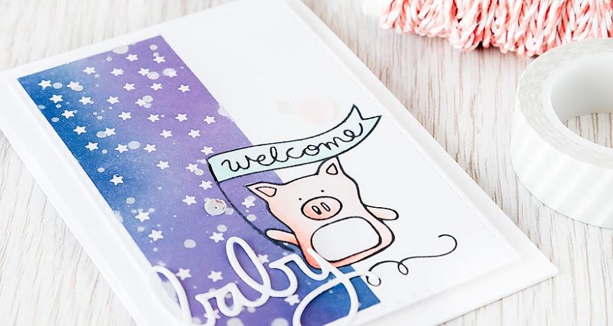 Debby Hughes - Lime Doodle Design http://limedoodledesign.com/2015/04/welcome-baby-masking/ #card #sssfallingforyou #baby