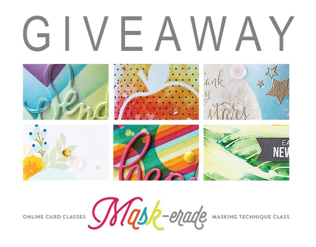 giveaway – online card class mask-erade