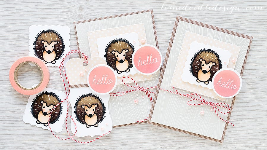 Hero Arts hedgehog family - Debby Hughes - Lime Doodle Design http://limedoodledesign.com/2015/06/hedgehog-family/ #card #heroarts #playful #animals #tag #hedgehog