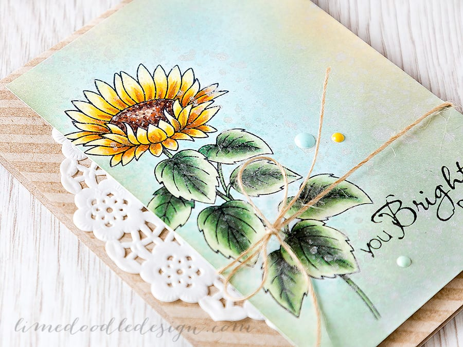combining copics and distress inks - Debby Hughes - Lime Doodle Design http://limedoodledesign.com/2015/06/combining-copi…-distress-inks/ #copic #distress #card #flower