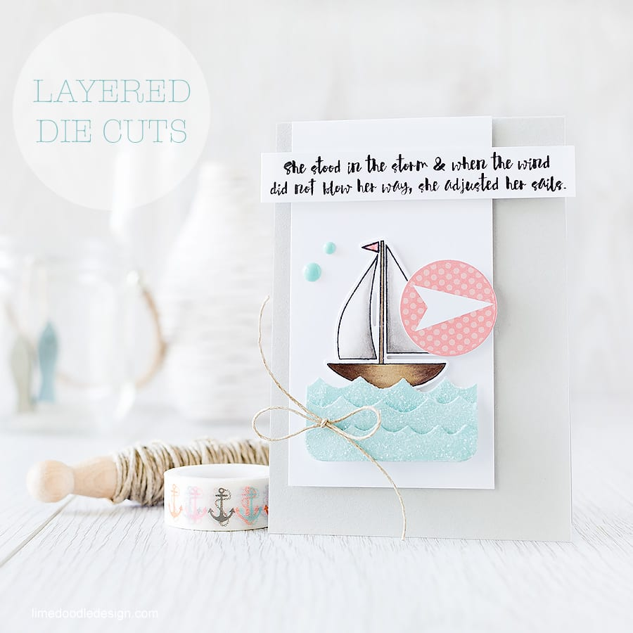 Layered die cuts are such a fun and easy way to add interest to your cards. I'm using new inks, stamps and dies from Simon Says Stamp as part of a blog hop to celebrate the new Splash Of Color release. Find out more by clicking on the following link: http://limedoodledesign.com/2015/07/layered-die-cuts-blog-hop/