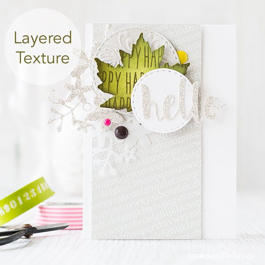Layered texture to create interest in a focal point. Find out more by clicking the following link: http://limedoodledesign.com/2015/07/layered-texture/