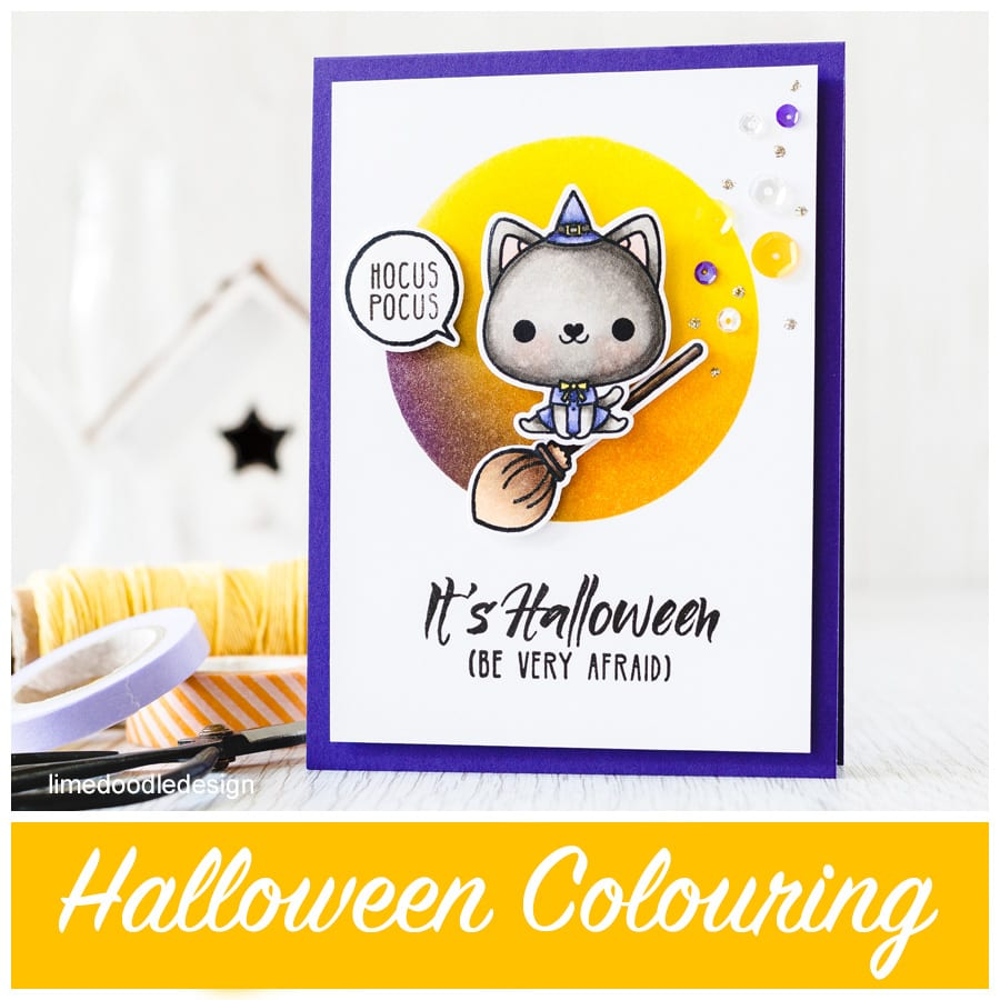 Halloween colouring - use colours such as purple, orange, yellow, green and black to immediately signify Halloween. Find out more by clicking on the following link: http://limedoodledesign.com/2015/08/halloween-coloring/