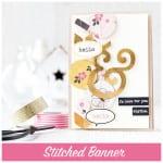 stitched banner + blog hop