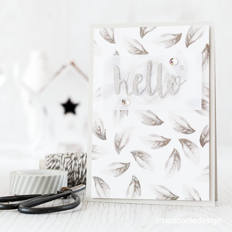 Monochrome - the combination of greys and silvers in comparison to the busy colourful world around is a peaceful reflection of the lovely shapes of the leaf image in this Altenew STAMPtember set. Find out more by clicking the following link: http://limedoodledesign.com/2015/09/monochrome/