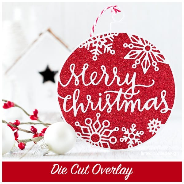 Die cut overlay - this Christmas Ornament die is one of the most outstandingly gorgeous and intricate dies I've seen. Find out more by clicking here: http://limedoodledesign.com/2015/09/stamptember-die-cut-overlay/