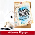 distressed notepage + giveaway