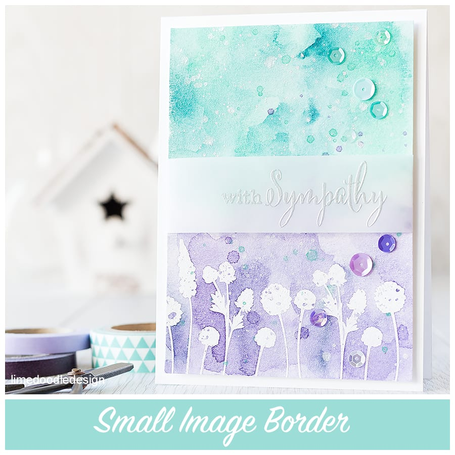 Using small images to create a border. For more please click on the following link: http://limedoodledesign.com/2015/10/small-image-border/