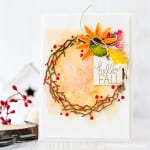Watercolored Fall Wreath