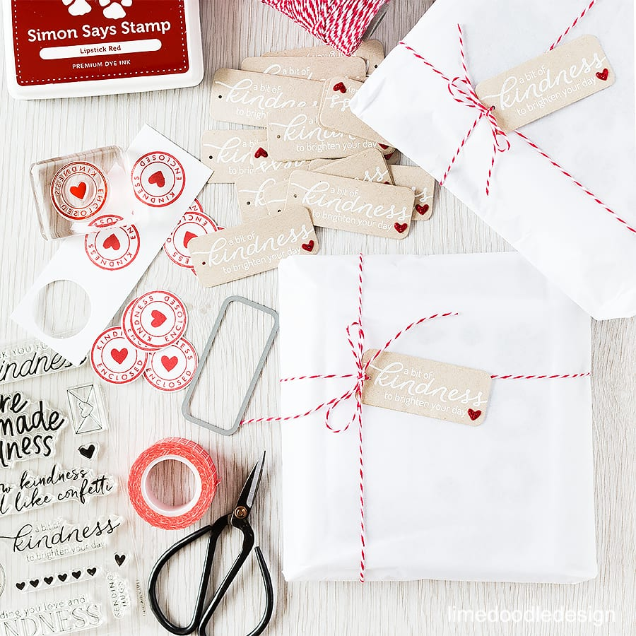 Wrapping parcels with the Acts Of Kindness set from Hero Arts. 25% of profits from this set go to The Kind Campaign working to end bullying #sharehandmadekindness Find out more by clicking the following link: http://limedoodledesign.com/2015/11/wrapping-kindn…inner-giveaway/