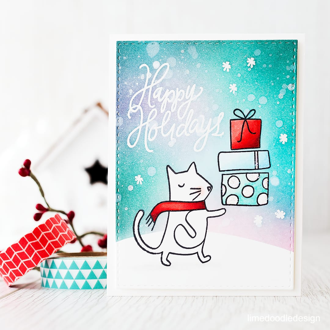 Adorable stamp set from the December Card Kit! Find out more here: http://limedoodledesign.com/2015/11/video-december…rd-kitgiveaway/