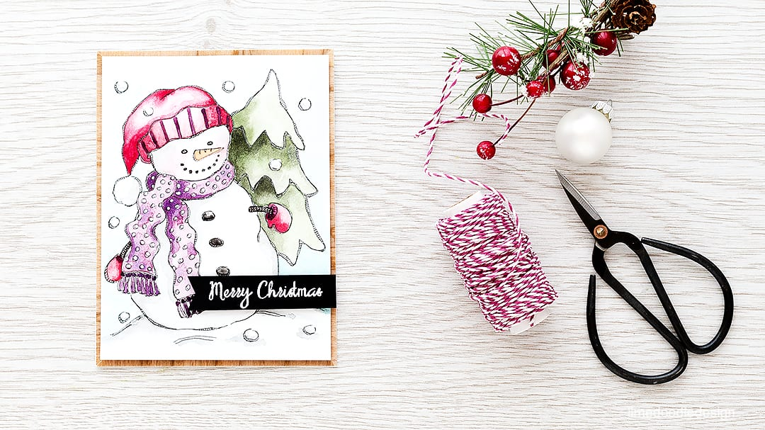 I couldn't resist this snowman from the pack of watercolor prints designed by Suzy Plantamura for Simon Says Stamp. Find out more by clicking on the following link: http://limedoodledesign.com/2015/11/watercolor-snowman-giveaway/