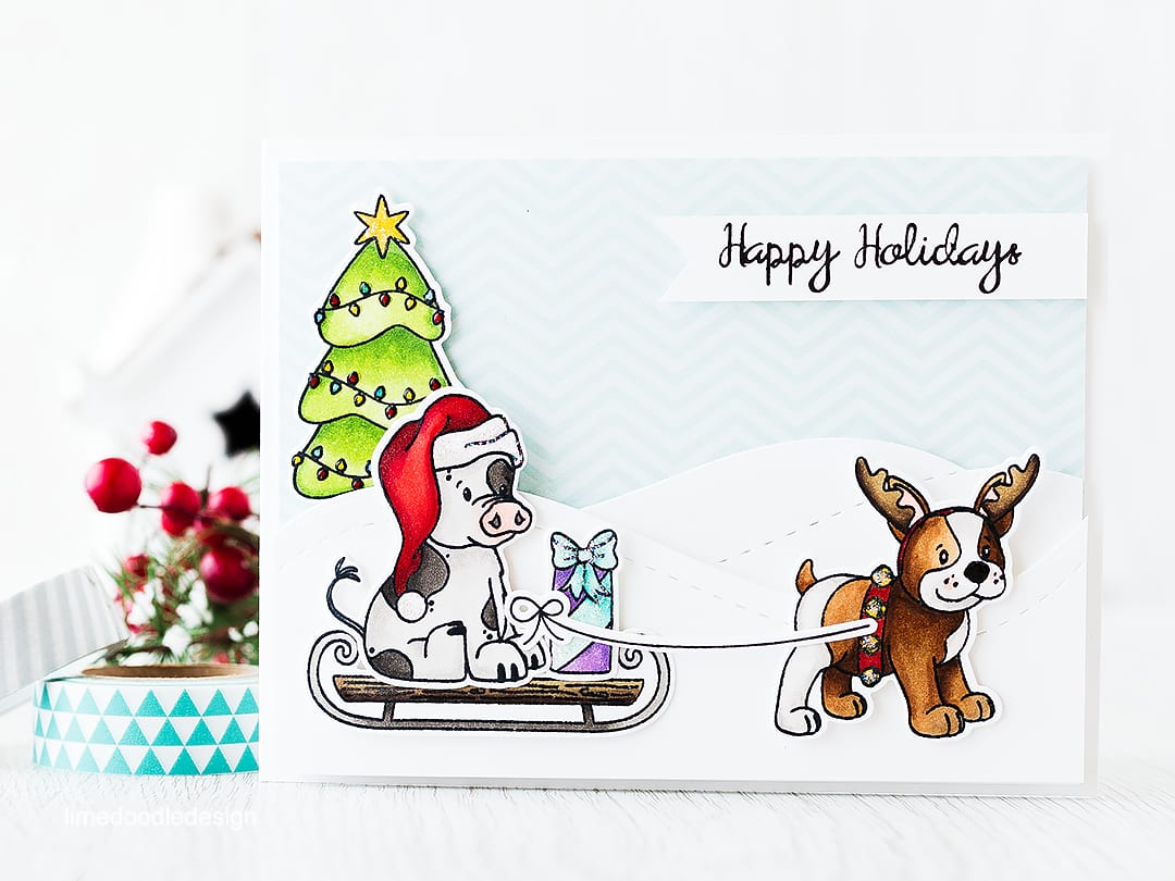 Best friends are well, the best aren't they! Find out more by clicking the following link: http://limedoodledesign.com/2015/11/best-friends-giveaway/ Christmas Holiday card