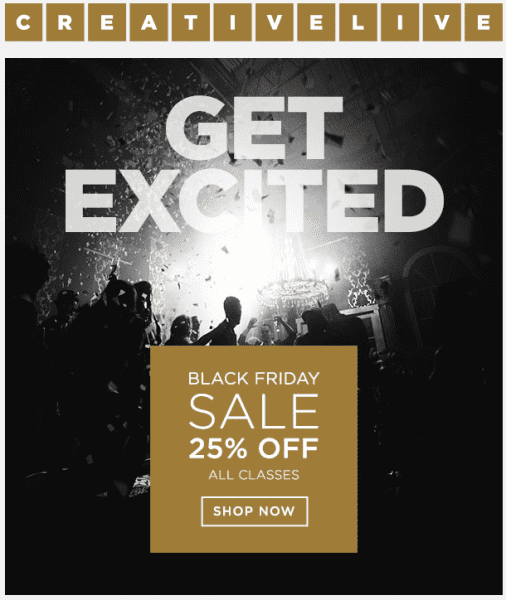 Creative Live Black Friday Sale