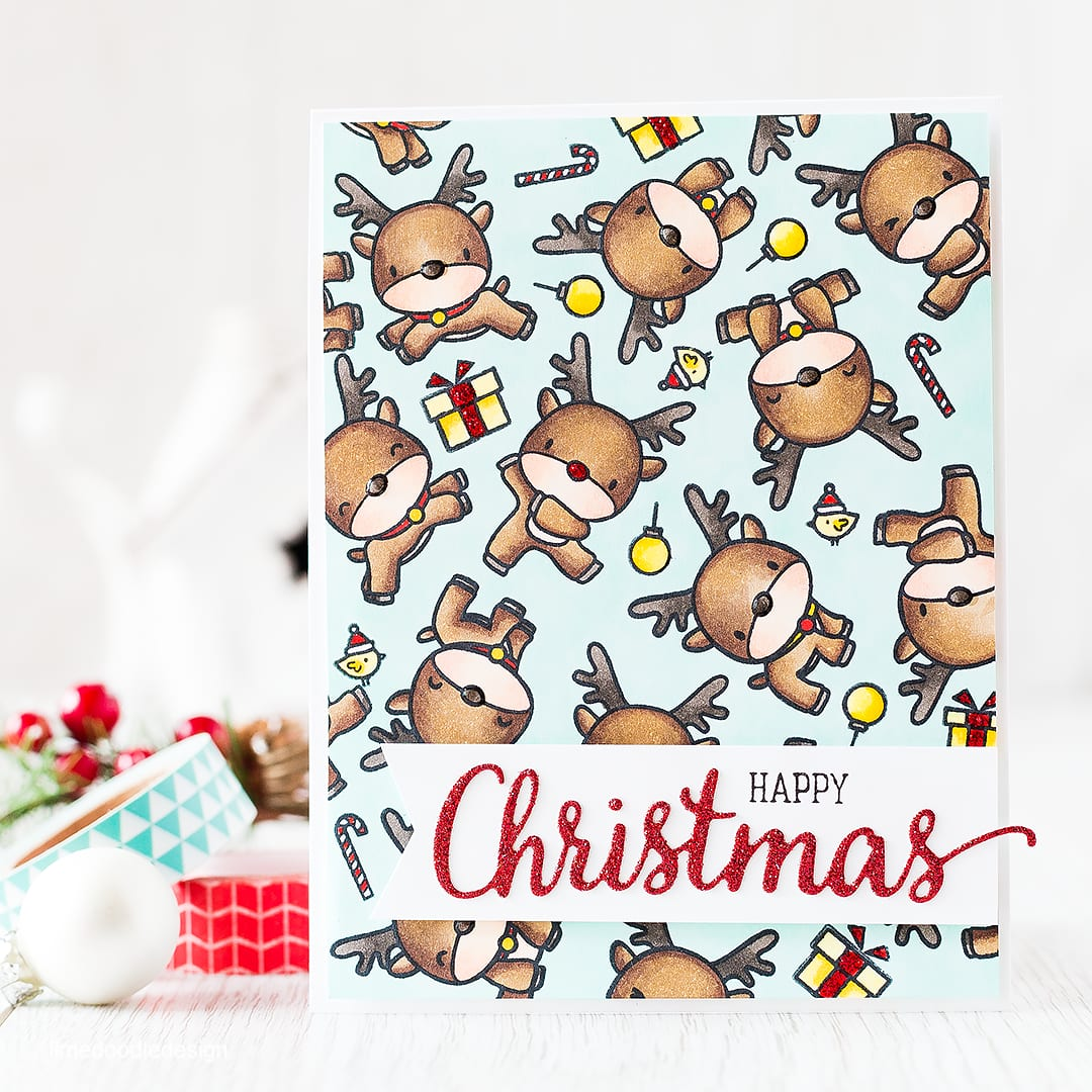 Herd of reindeer Christmas card! Find out more by clicking on the following link: http://limedoodledesign.com/2015/11/a-herd-of-reindeer-giveaway/