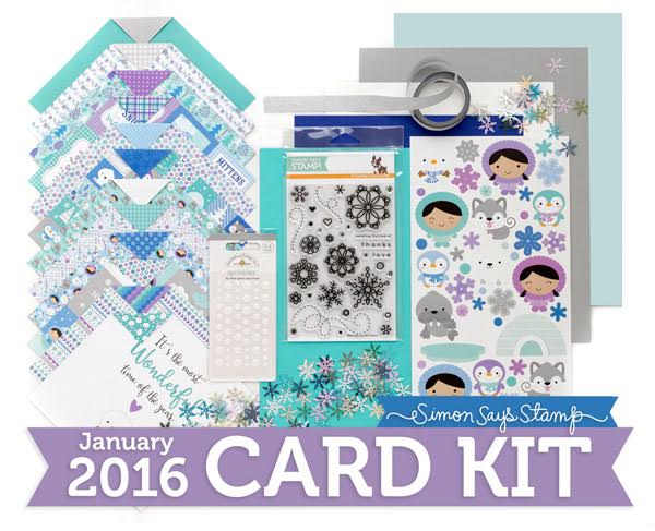 January Card Kit from Simon Says Stamp. Find out more by clicking the following link: http://limedoodledesign.com/2015/12/january-card-kit/