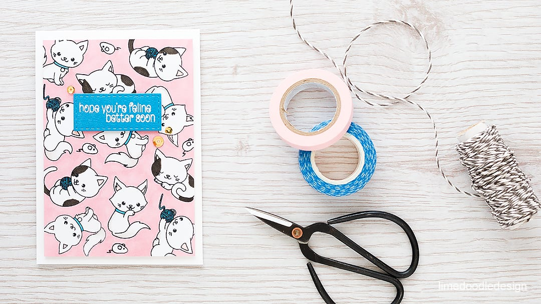 Inspired by stationery for this cute kitty get well card. Find out more by clicking on the following link: http://limedoodledesign.com/2016/01/inspired-by-stationery/