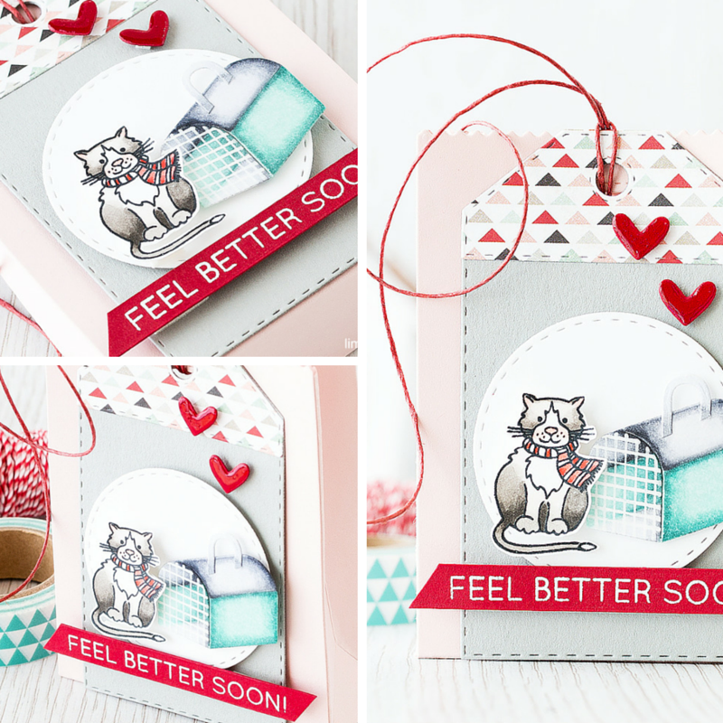 Get well soon gift bag. Find out more by clicking on the following link: http://limedoodledesign.com/2016/01/tis-the-season-o…les-and-snuffles/