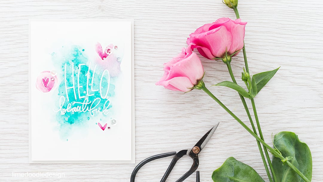 Don't you just love heat embossing resist? Paired with watercolor it allows a beautiful sentiment to shine. Find out more by clicking on the following link: http://limedoodledesign.com/2016/01/video-heat-embossing-resist/