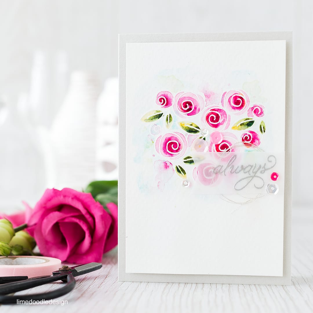 Watercolored roses. Find out more by clicking the following link: http://limedoodledesign.com/2016/01/watercolored-roses/
