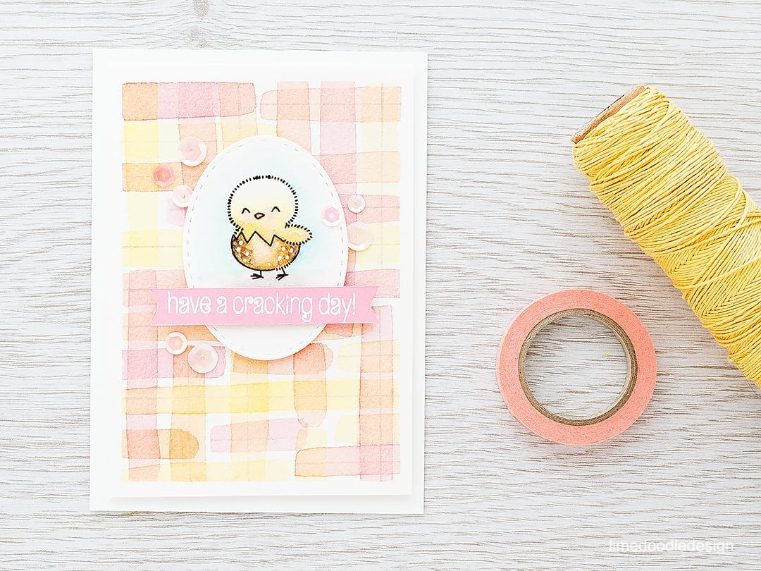 Pastel plaid watercolor is a great background for this cute chick. Find out more by clicking the following link: http://limedoodledesign.com/2016/02/plaid-watercolor/