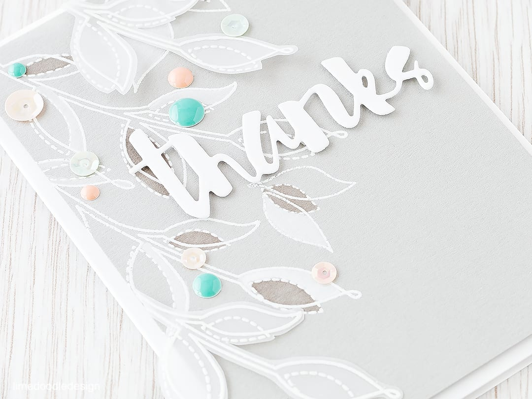 Tone on tone coloring gives such a soft elegant feel to this thank you card. Find out more by clicking on the following link: http://limedoodledesign.com/2016/02/tone-on-tone-plushies/