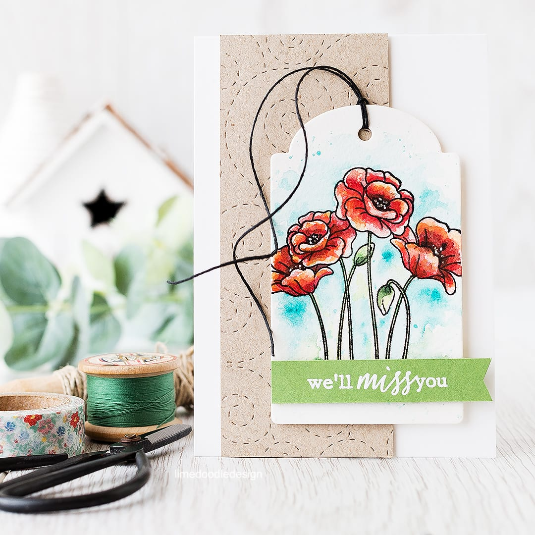 Tag Focal Point - a tag draws the eye to the lovely poppies from the new From All Of Us release. Find out more by clicking on the following link: http://limedoodledesign.com/2016/03/tag-focal-point/