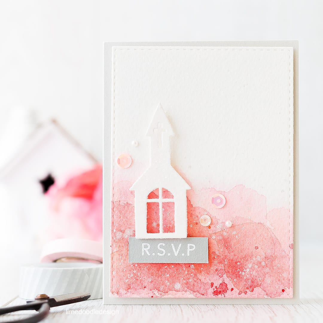 Watercolor wedding card set. Find out more by clicking on the following link: http://limedoodledesign.com/2016/03/video-spring-watercolor-wedding-set/