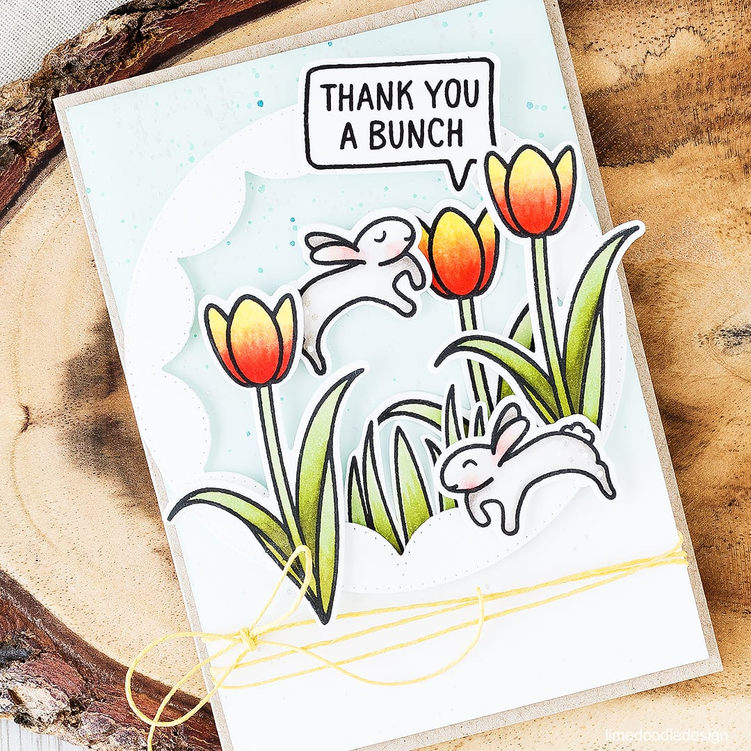 Leaping spring bunnies in a field of tulips? Of course! Find out more by clicking on the following link: http://limedoodledesign.com/2016/03/more-bunnies/