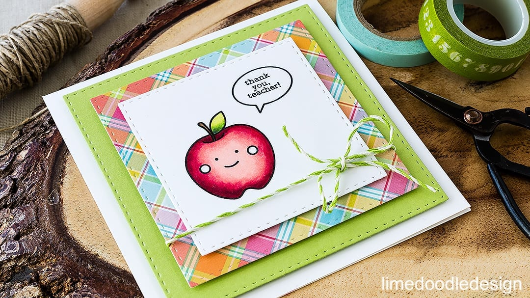 Simple teacher card. Find out more by clicking on the following link: http://limedoodledesign.com/2016/04/simple-teacher-card-winner/