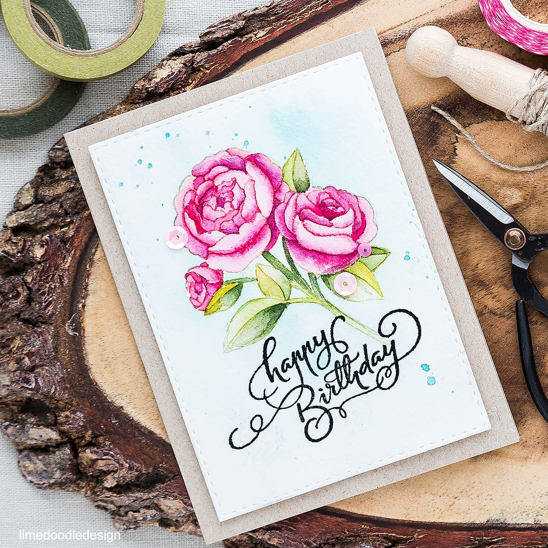 No line watercoloring of this gorgeous flower for a special birthday card. Find out more by clicking on the following link: http://limedoodledesign.com/2016/05/no-line-watercoloring/