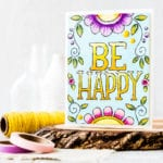 Color and Go Note Card