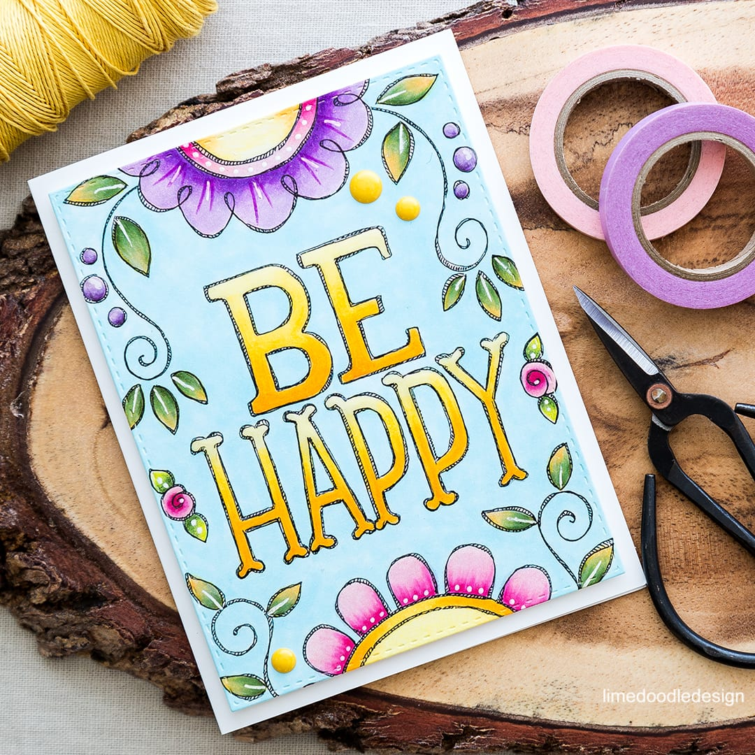 Pre printed card fronts make it easy for a quick color and go note card! Find out more by clicking on the following link: http://limedoodledesign.com/2016/05/color-go-note-card/