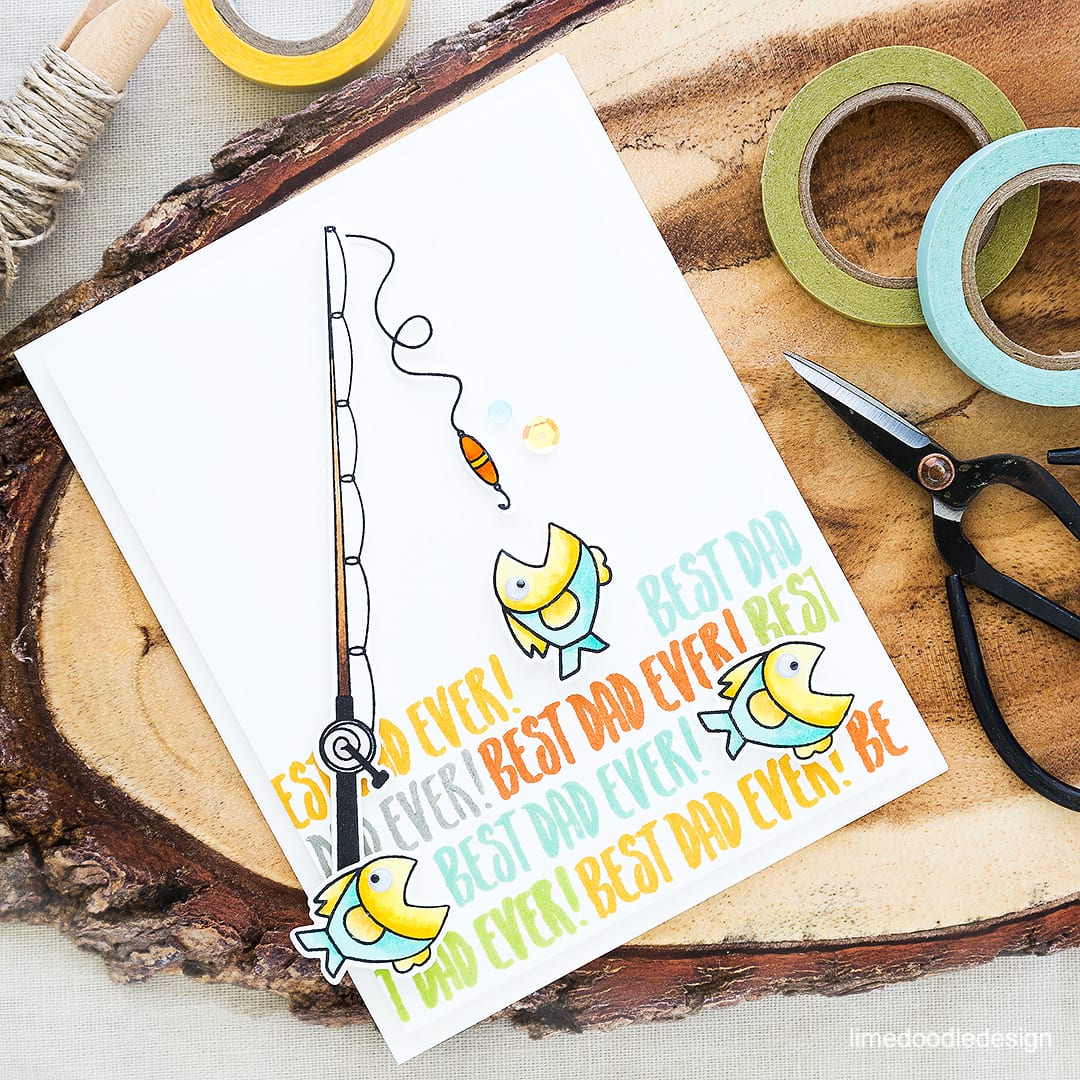 Best Dad Ever! Cute fishy Father's Day card. Find out more by clicking on the following link: http://limedoodledesign.com/2016/05/best-dad-ever/
