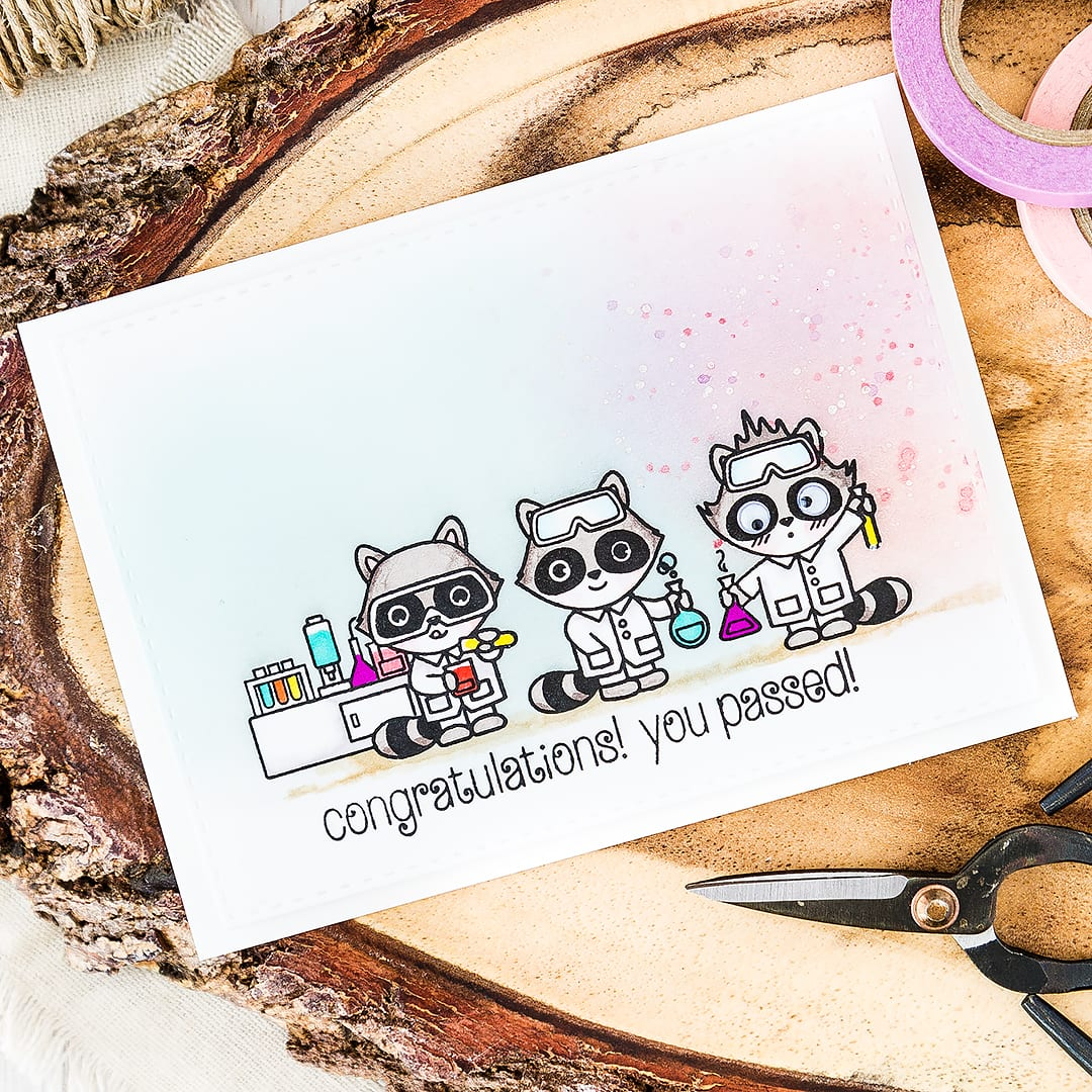 Cute chemist congratulations, you passed card! Find out more by clicking on the following link: http://limedoodledesign.com/2016/06/cute-chemists/