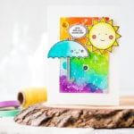 Watercolored Happiness For The Rainbow Card Challenge