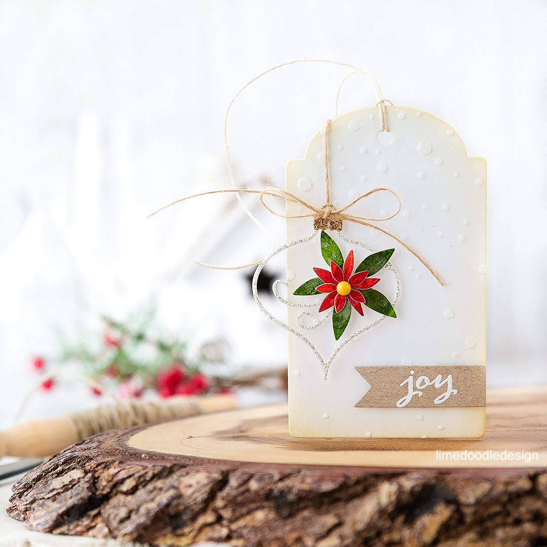 Christmas In July – Poinsettia Ornament Tag