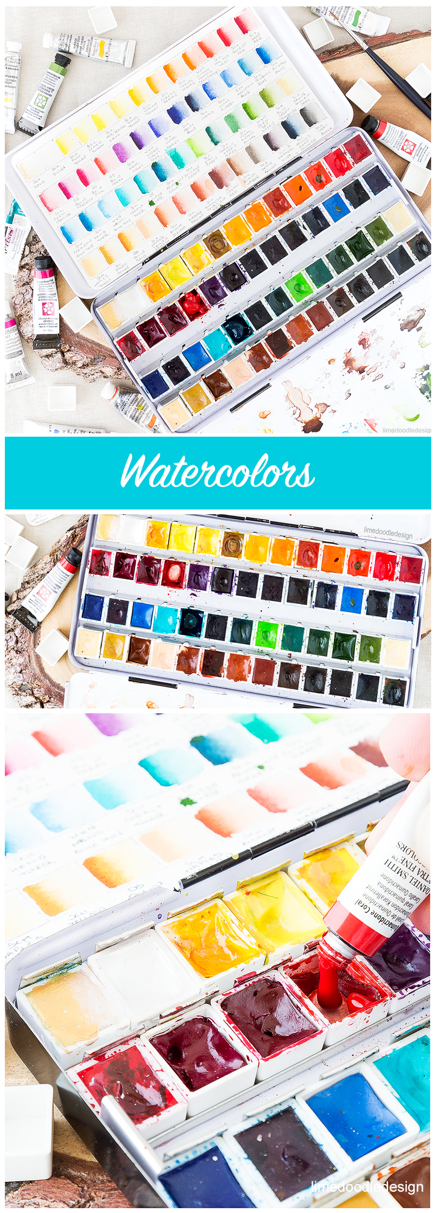 My favorite watercolors and how I chose them. Find out more by clicking on the following link: http://limedoodledesign.com/2016/07/my-favorite-watercolors-and-how-i-chose-them/