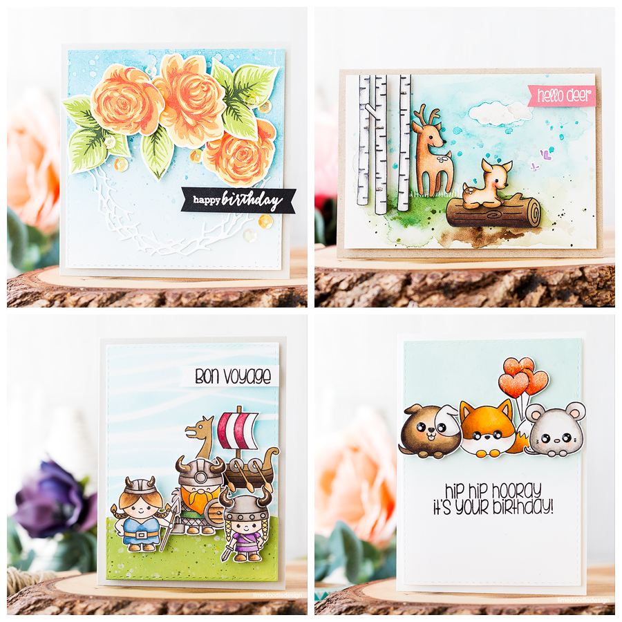 Clearly Besotted August release review. Find out more about these cards by clicking on the following link: http://limedoodledesign.com/2016/08/clearly-besotted-august-release-review/