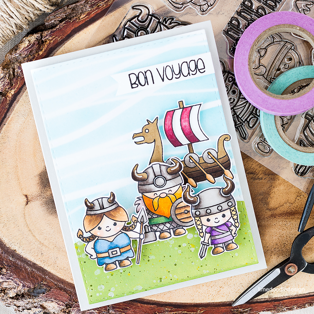 Viking Bon Voyage. Find out more about this card by clicking on the following link: http://limedoodledesign.com/2016/08/viking-bon-voyage/